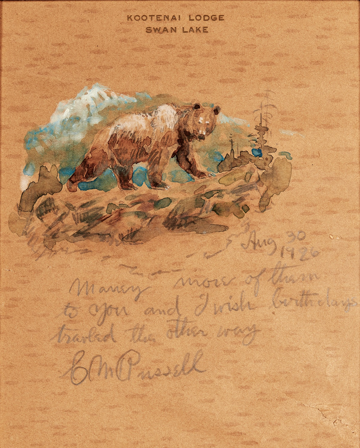 CM Russell illustrated letter